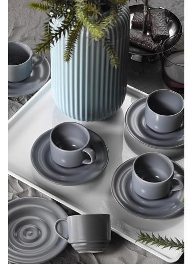 Kütahya Porselen New Tuvana Kahve Takımıgri Renkli